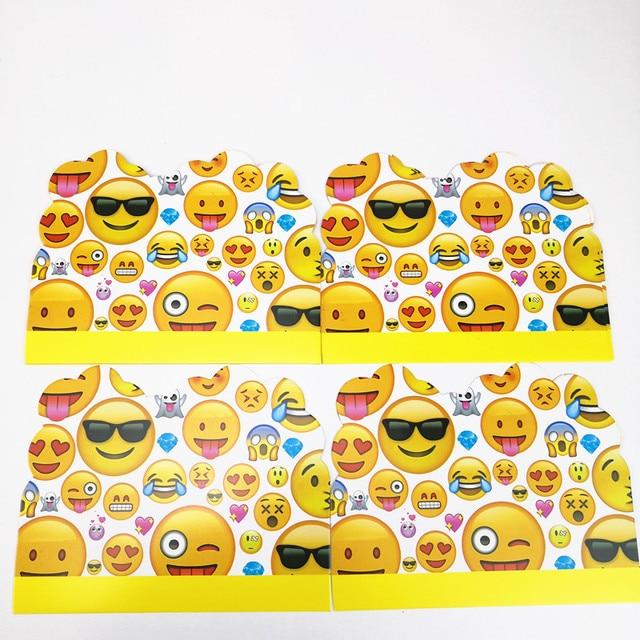 10pcs 11 14cm cute emoji invitation card cartoon theme kid boy