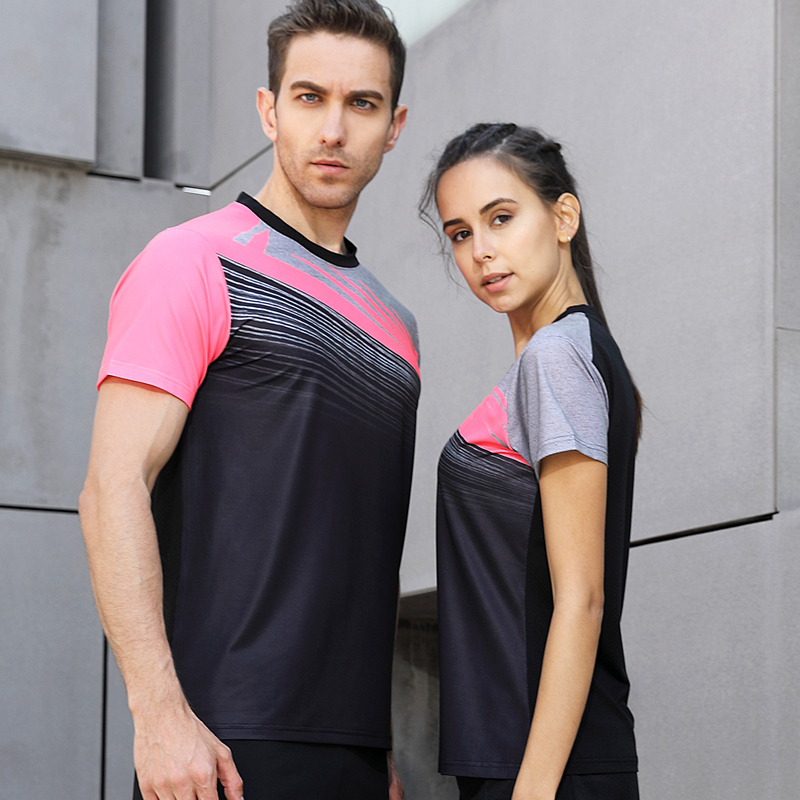 Men Sportswear Badminton Shirts Jerseys Volleyball Golf Table Tennis T-shirt Sports Clothes T Shirts Quick Dry Breathable 2018