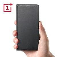 OnePlus 5T Flip Cover Black Case Original PU Leather Oneplus5T Five Flip Cover Smart Protective Shield