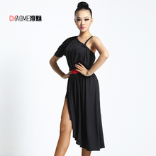 One-shoulder Ballroom Costume Sexy Latin dance clothes one-piece dress for women/female, New Fashion Tango performance wear 7050