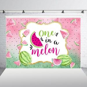 Фон для фотосъемки HUAYI One in a Melon, летние вечерние фоны с арбузом для девочек на первый день рождения, вечерние фоны для фотосъемки с фруктами, ...