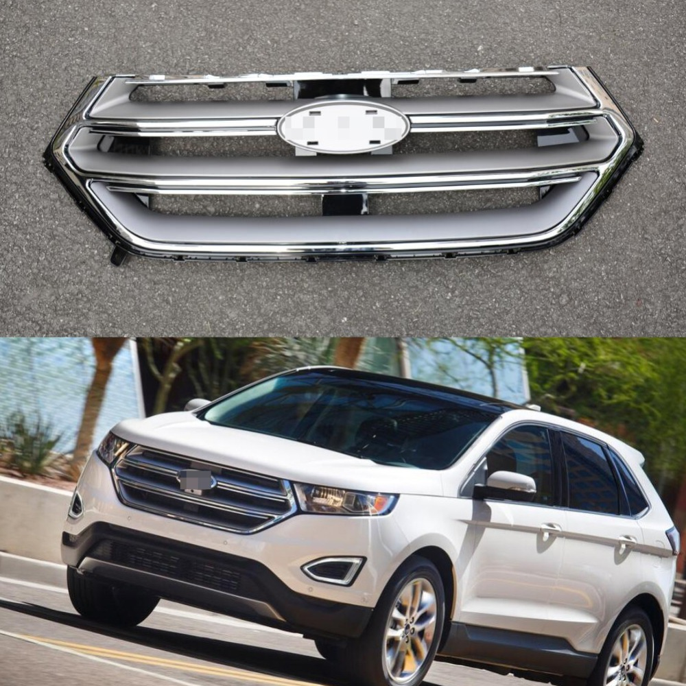 1pc chrome front bumper upper grille grill radiator for ford edge 2 7t 2015 2016