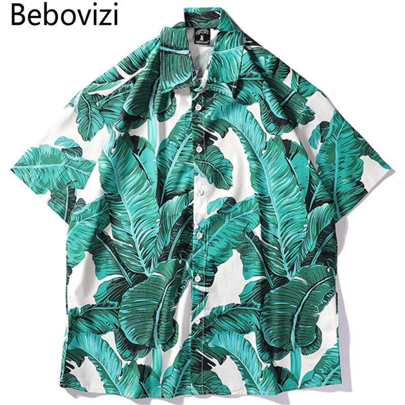 Bebovizi Summer Mens Hawaiian Shirt Hip Hop Streetwear Full Print Shirts 2019 Harajuku Casual Loose Cool Camisa Masculina Shirt in Casual Shirts from Men 39 s Clothing