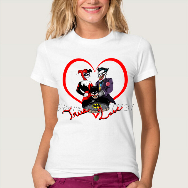 Joker and Harley Quinn Printed T Shirt