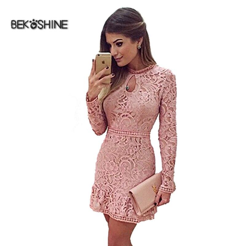 Bekoshine Vestido Mujeres Del Otoño 2017 Nueva Vestidos Vestido de ...