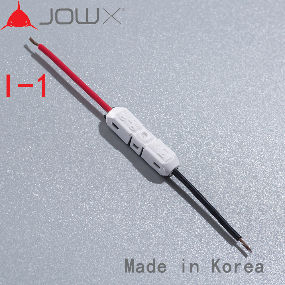 I-1 100PCS Quick Splice Wire Wiring Connector for 1 Way 23-20AWG 0.3-0.5mm2 LED Strip Cable Crimp Terminal Blocks Car Audio