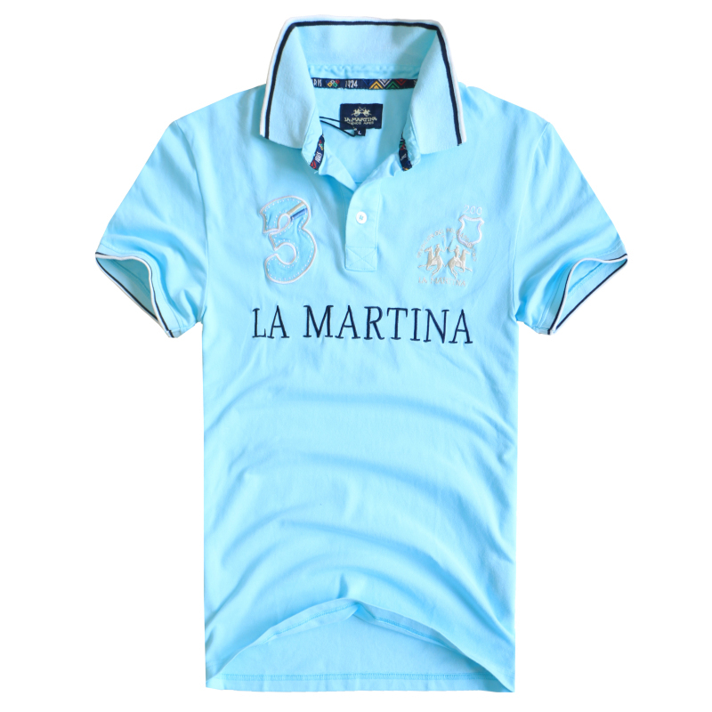 Free shipping new men s polo t shirts embroidery design t for High quality embroidered polo shirts