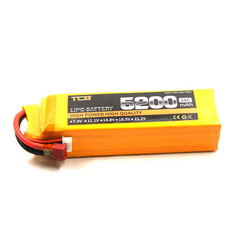 TCB RC Drone lipo battery 14.8v 5200mAh 25C 4s for RC Airplane Helicapter car boat high-rate cell li-poly batteria 4s 1s 2s 3s 4s 5s 6s 7s 8s lipo battery balance connector for rc model battery esc
