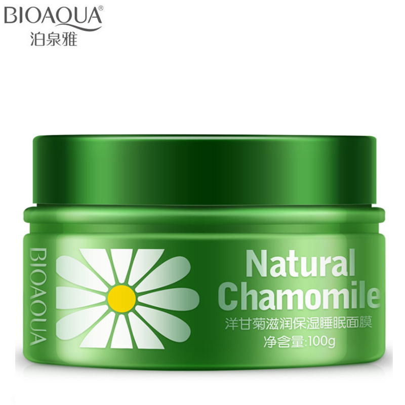 BIOAQUA Brand Chamomile Essence Sleeping Mask Anti Age Moisturizing Whitening Hydrating Face Mask Skin Care Masks Cream 100g маска librederm plant stem cells anti age mask intensive care for face neck and decollete