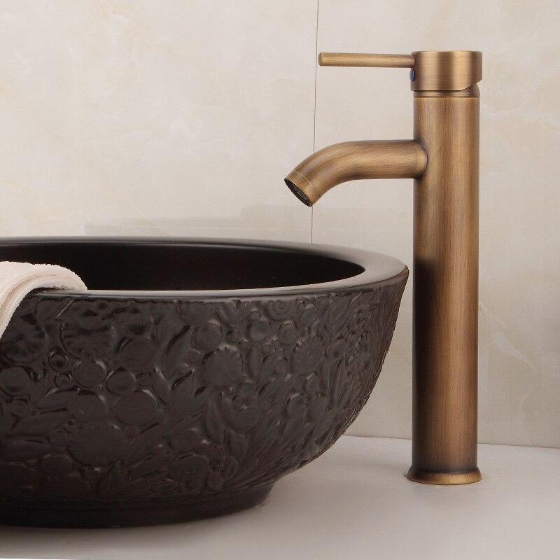 Robinet de lavabo Continental robinet de lavabo robinet en cuivre antique