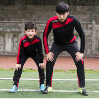 Sportswear Football Jerseys Sets Long Jacket Pants Tracksuits For Kid Boys Men Soccer Training Running Suit Parent child Clothes