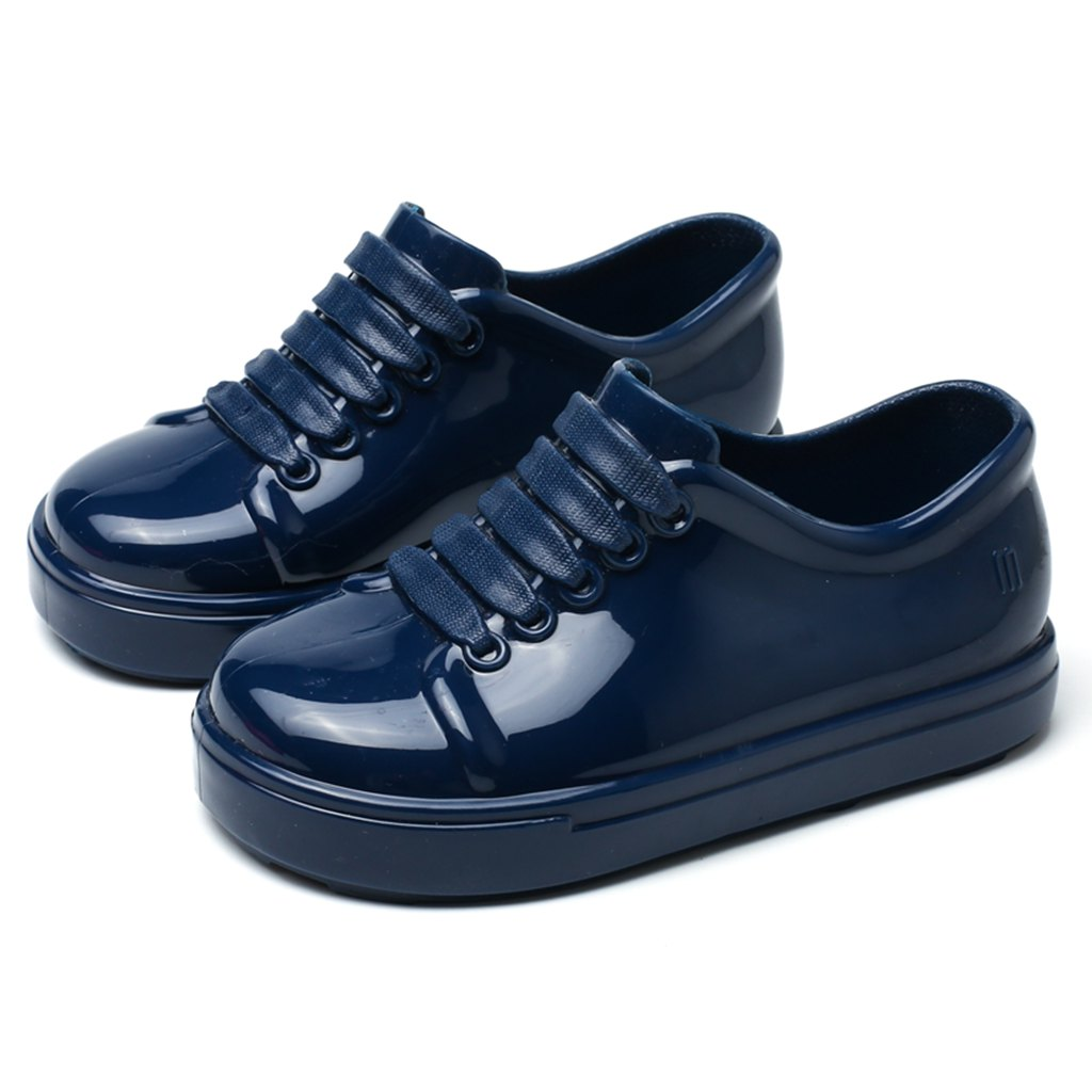 Mini Melissa No Shoelace Shoes 2018 Nowe zimowe płaskie sandały na - Obuwie dziecięce - Zdjęcie 2