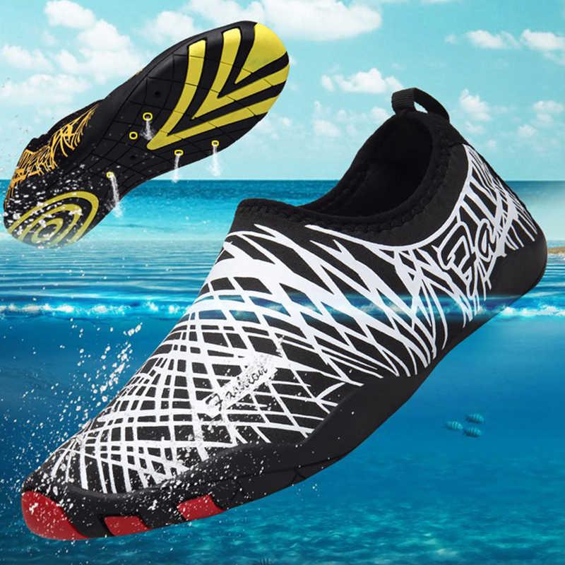 Plaża woda buty sportowe pływanie nurkowanie mężczyźni duży rozmiar trampki letnie Surfing obuwie dla dzieci kobiety boso nad morzem buty do wody Hot
