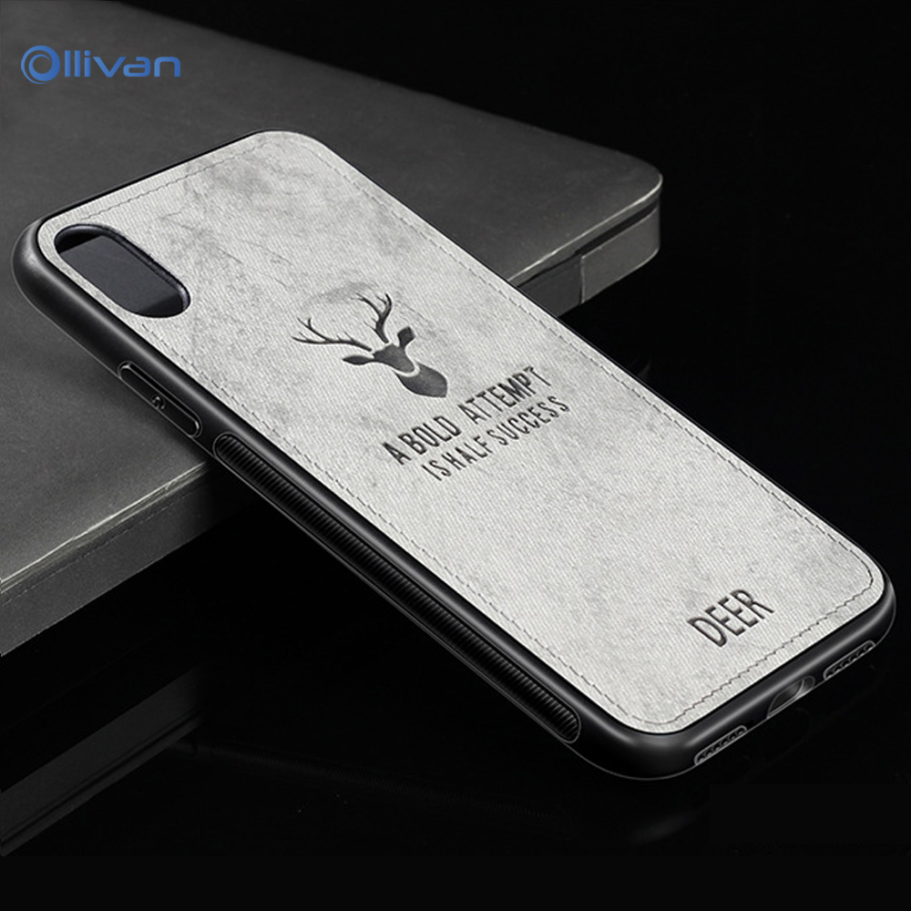 OLLIVAN Christmas Deer Cases for Huawei P20 Pro P 20 Lite P10 Pro P 10 Pro Case FashionCloth Elk Cover Phone Accessories Coque