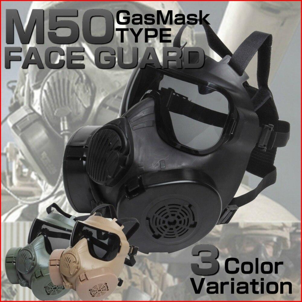 Armée militaire M50 masque à gaz complet avec crâne de ventilateur Cosplay Wargame tactique Airsoft Paintball masques