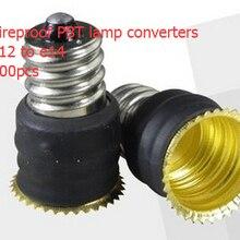 Огнестойкий PBT E12 для E14 держатели-преобразователи для ламп
