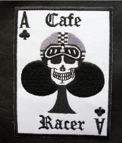 CAFE RACER 59 ACE CARD ROCKERS CLUB TRIUMPH BIKER PATCH Iron Sew On Embroidered Motorcycle Fashion Clothing Badge Applique