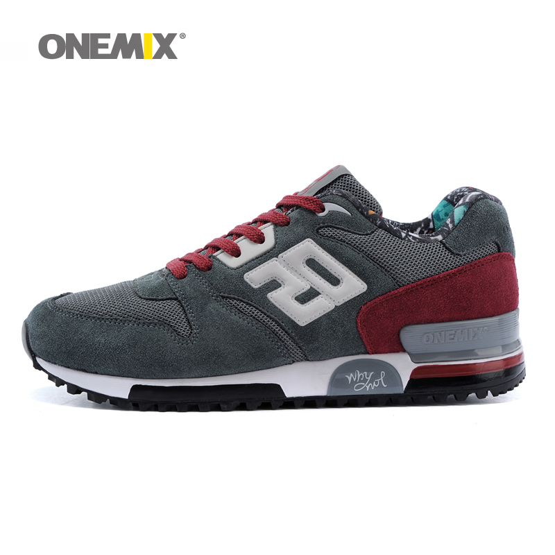 ФОТО Onemix suede retro running shoes outdoor men sport sneakers comfortable male jogging shoes zapatos de los hombres boy shoes