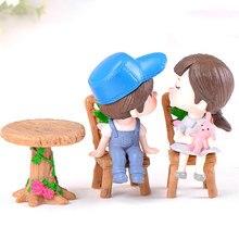 DIY миниатюрная мебель столы стулья наборы для мини миниатюры для кукольного домика мебель игрушки подарки 1/12 аксессуары для кукольного домика