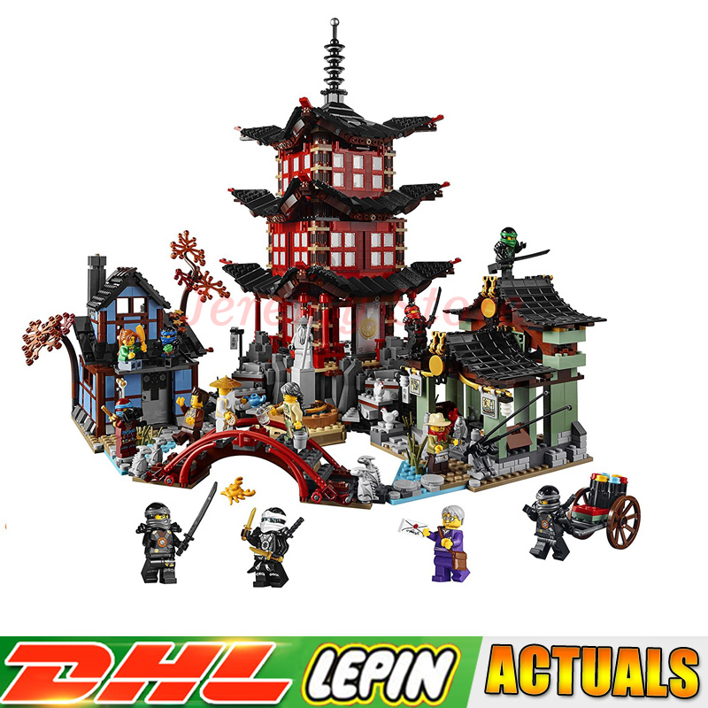 IN-STOCK Lepin 06022 2150Pcs Ninja Temple of Airjitzu Jay Kai Cole Building Block Compatible 70751 Bricks Toys Gifts Lepin compatible ninja 70751 lepin 06022 2150pcs blocks ninja figure temple of airjitzu toys for children building bricks 70603 gifts