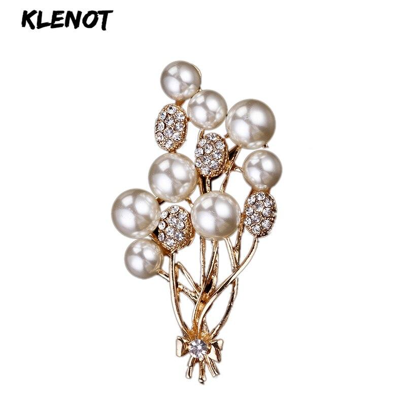 2020 Elegant Pearl Balloon Bouquet Brooch Flower Brooch Pins Pearl