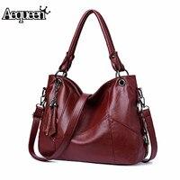 Aequeen/женские сумки из натуральной кожи; женская сумка с кисточками; сумки через плечо; высококачественные кожаные сумки; женская сумка-мессе...