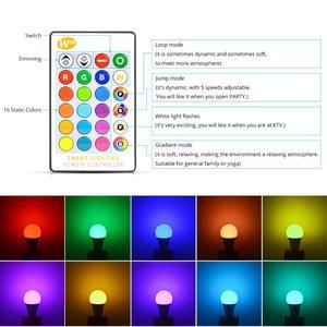 Image 2 - スマート E27 LED RGB RGBW RGBWW マジック電球ランプ 5 ワット 10 ワット 15 ワット 110 V 220 12V LED スポットライト + Ir リモートまたは Bluetooth 4.0 アプリ制御
