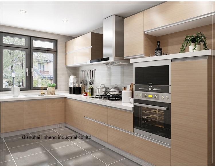 Melamine/mfc Kitchen Cabinets(LH-ME073)