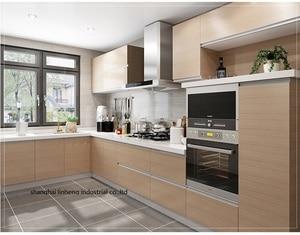 Gabinetes de cocina de melamina/mfc (LH-ME073)