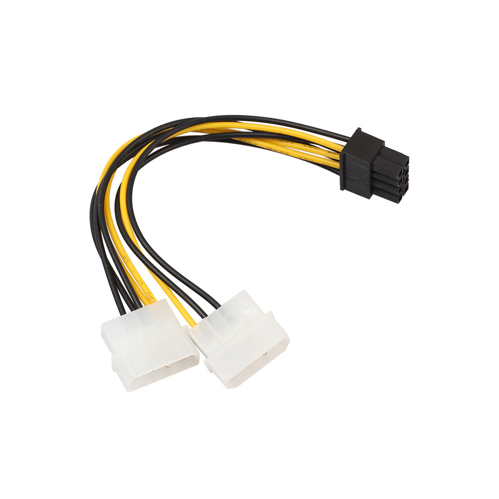 Dual Molex 4 Pin To 8 Pin PCI-E Express Converter Adapter Power Cable 18cm Adapter Power Cable Drop Shipping L1206#2
