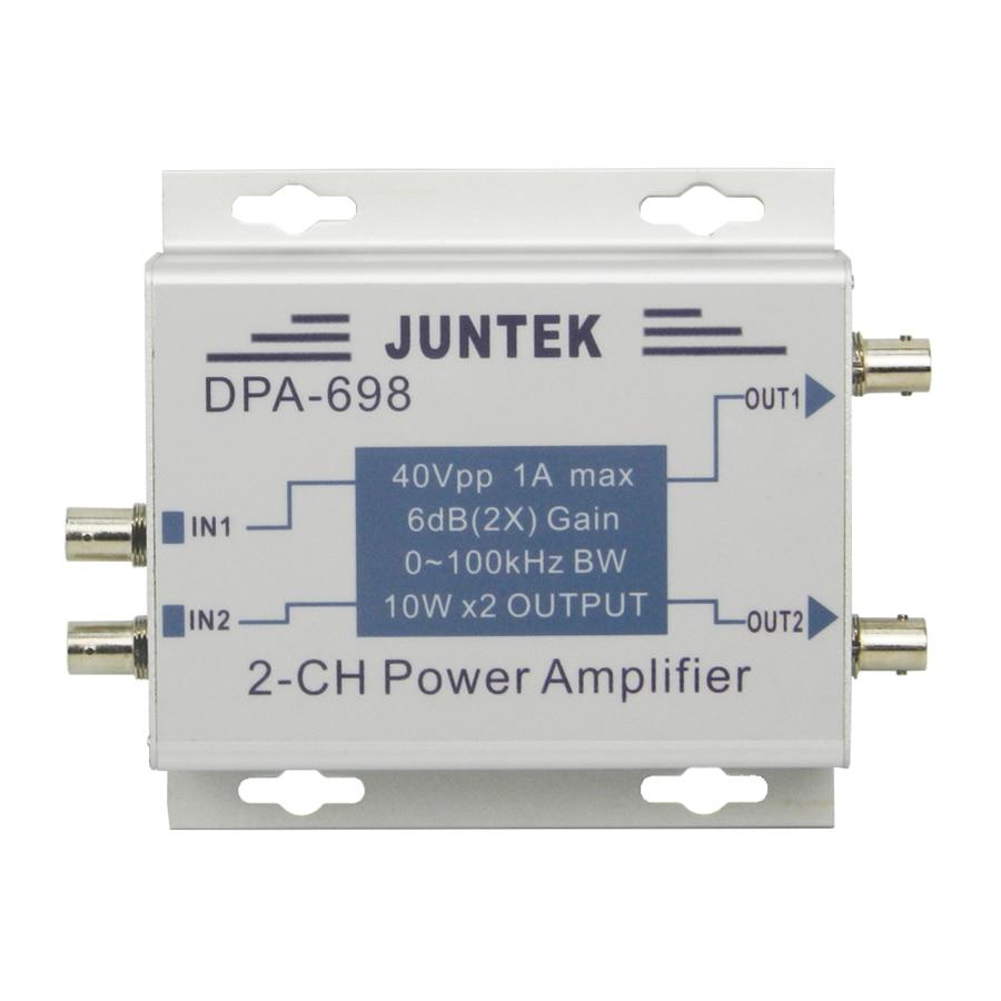 DPA-698 High Power Dual Channel DDS Function Signal Generator Power Amplifier DC Power Amplifier 40Vpp 10pcs free shipping lm4863d lm4863 dip 16 dual channel o power amplifier new original