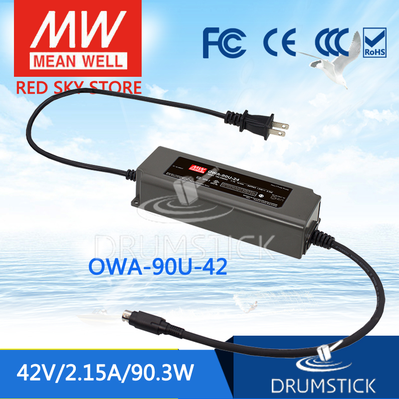 цена на MEAN WELL OWA-90U-42 42V 2.15A meanwell OWA-90U 90.3W Single Output Moistureproof Adaptor with lock type