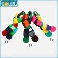 2015 inverno de espessura suave doces coloridos pouco meninos meninas lenços crianças Neck Warmer Scarf presente de natal 3 cores para crianças 2-8yrs