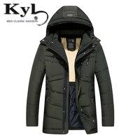 KunYuLang 2018 новые модные мужские зимние куртки и пальто ветрозащитный пальто Верхняя одежда три цвета размер L ~ 3XL 8807