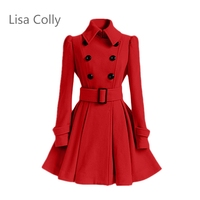 Lisa Colly Fashion Women S Long Jackets Coats Spring Autumn Outwear New Single Breasted Casual Overcoat