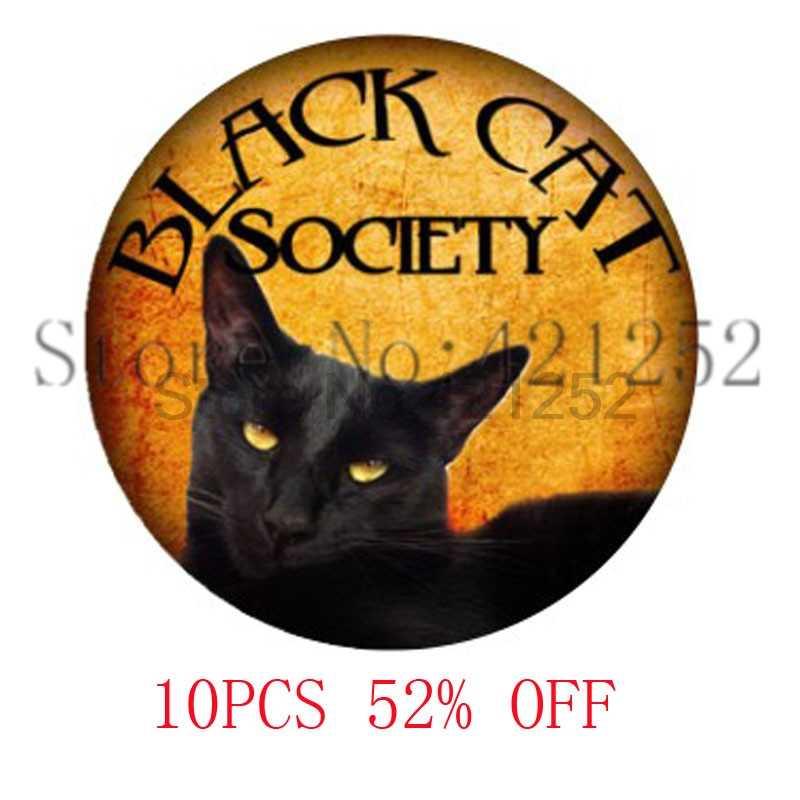 Пистолет Черный кот Милый Хэллоуин ювелирные изделия черный кулон 3069 ожерелье