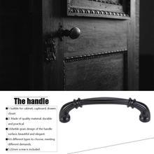 цена на Zinc Alloy Cabinet Handles Kitchen Wardrobe Cupboard Dresser Door Pulls Drawer Handle Knobs For  furniture Hardware Black