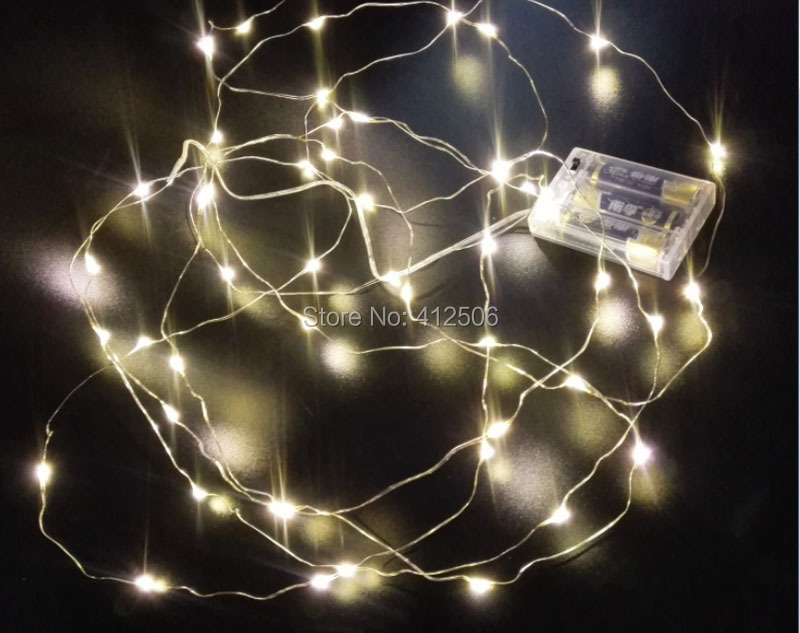 2x3M 30 LED 10ft <font><b>warm</b></font> <font><b>white</b></font> battery micro copper silver wire fairy Christmas holiday wedding invisible rice string <font><b>lights</b></font>