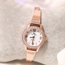 New hot Arabic digital watch chain custom rhinestones four womens bracelet buckle  Fashion & Casual