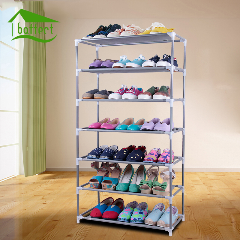 Shoe Rack DIY Assembled Plastic Multiple Layers Shoes Shelf Storage Organizer Stand Hold ...