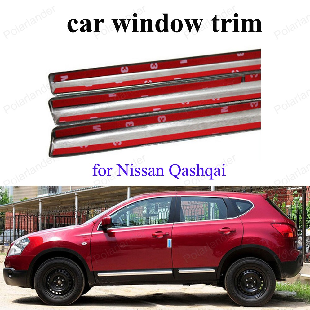 Car Styling Window Trim Stainless Steel Full Set Decoration Strips Exterior Accessories For N