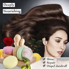 6 Colors Organic Handmade Hair Shampoo Soap Rich In Plant Es