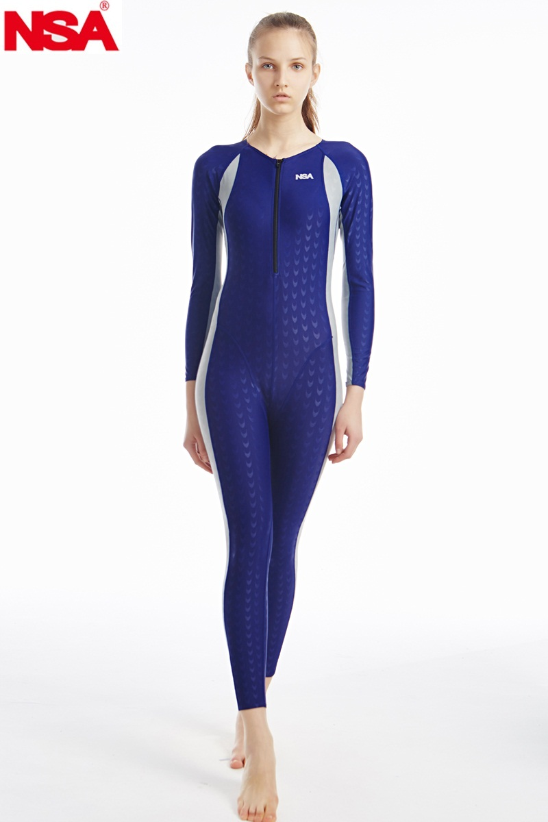 NSA unique design full body lycra swimwear sharkskin