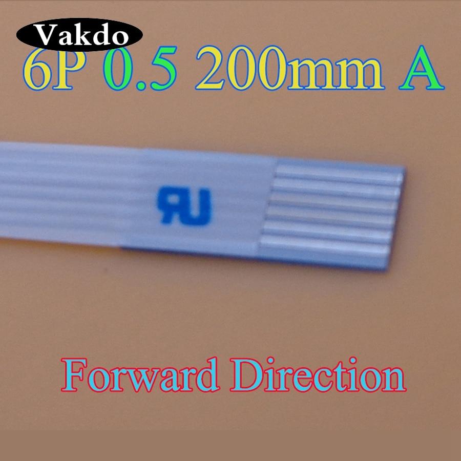 2-500 pcs/lot nouveau FFC FPC plat câble flexible 0.5mm pas 6 broches longueur avant 200mm largeur 3.5mm ruban câble flexible livraison gratuite