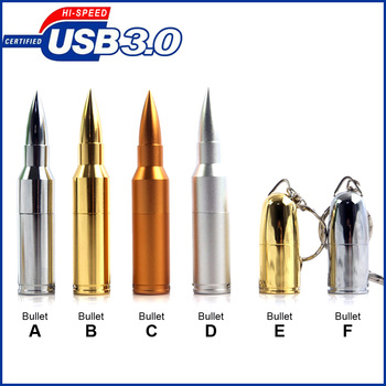 64 gb Metal Bullet Kształt usb flash drive, Kije USB 3.0 Flash Disk Pamięci Pen Drive 8 GB 16 GB 32 GB 64 GB usb stick, hi-speed usb