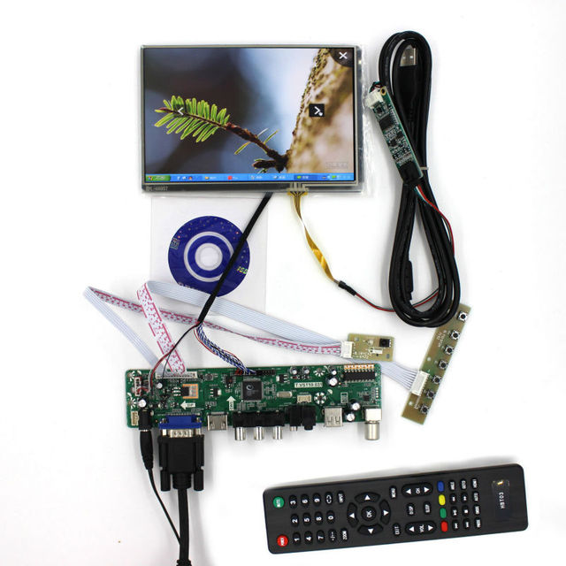 ТЕЛЕВИЗОР борту. VST29.01B + 7 дюймовый N070ICG-LD1/LD4 1280*800 + Сенсорная панель для малины