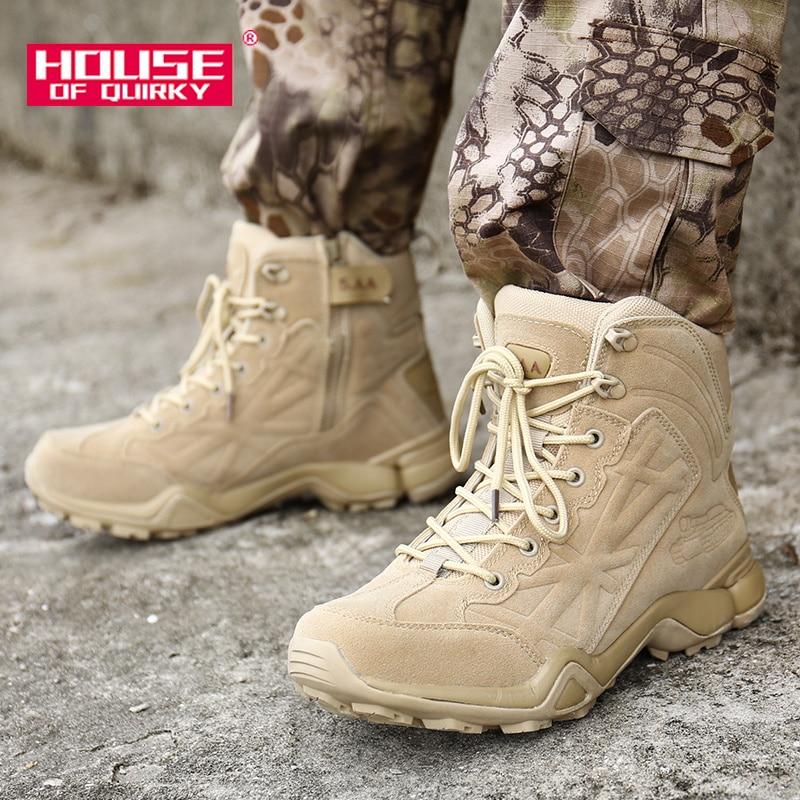 Homme en Cuir Travail MARTIN boots High Top Sneakers Bottines Désert Armée Randonnée