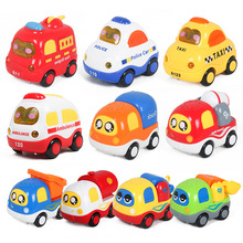 Baby toy car child inertia car boy toy fire truck ambulance taxi sound and light sound effect 6pcs set back car toys inertia racing car model baby mini construction vehicle fire truck taxi kids toy for boy gifts