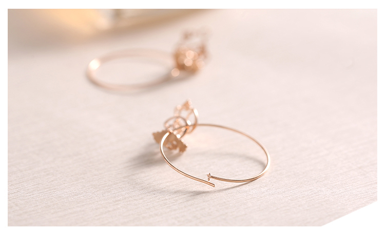 rose gold dog drop silver hoop earrings 03_01