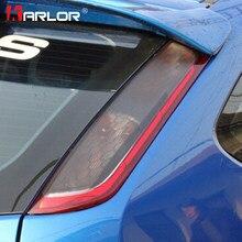 Autocollants et autocollants de phare arrière de voiture | Film autocollant de décoration en Fiber de carbone, accessoires de voiture pour Ford Focus 2 MK2 1 paire